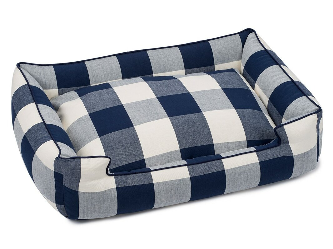Buffalo Check Premium Cotton Blend Lounge Bolster Bed
