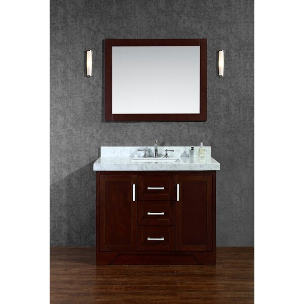 Misty 42 Single Bathroom Vanity Set with Mirror by Corrigan Studio