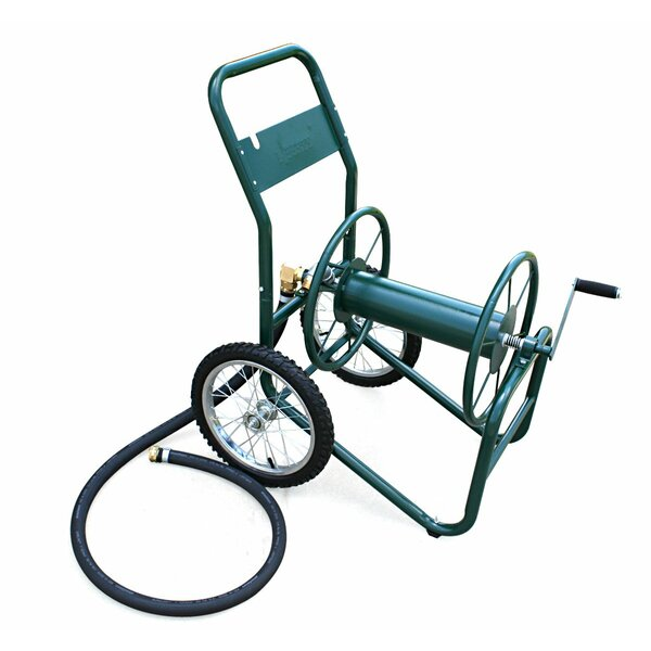 Industrial 2 Wheel Steel Hose Reel Cart by Liberty Garden