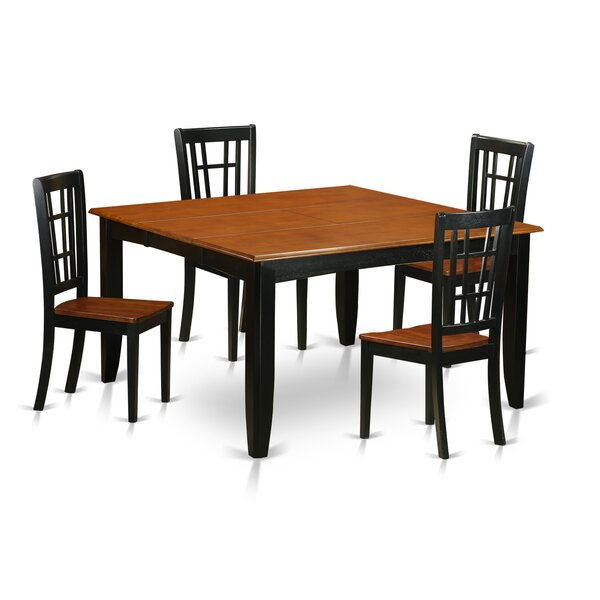 Pilning Contemporary 5 Piece Wood Dining Set by August Grove