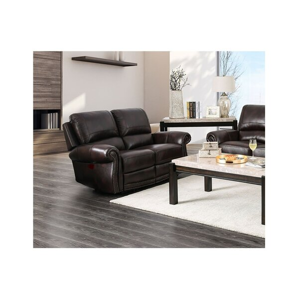 Brodhead Leather Reclining Loveseat By Darby Home Co