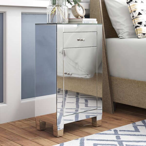 Emerita 1 Drawer Rectangular Accent Cabinet by Rosdorf Park