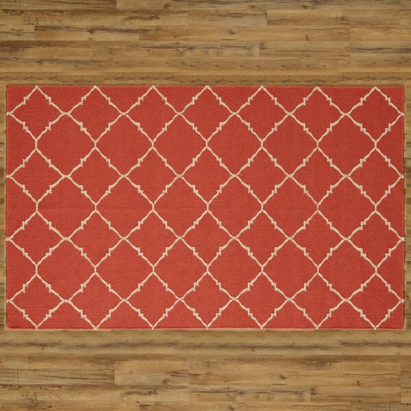 Darby Hand-Woven Red Area Rug by Birch Lane™