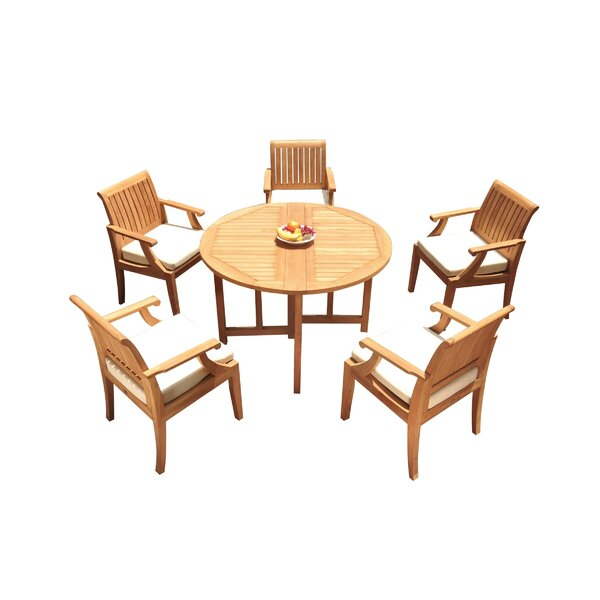 Jewett 6 Piece Teak Dining Set by Rosecliff Heights