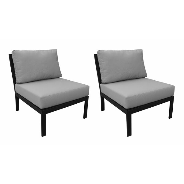 Madison Patio Chair with Cushion (Set of 2) by kathy ireland Homes & Gardens by TK Classics kathy ireland Homes & Gardens by TK Classics