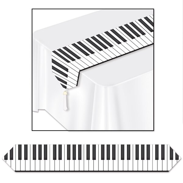 Printed Piano Keyboard Table Runner by The Holiday Aisle