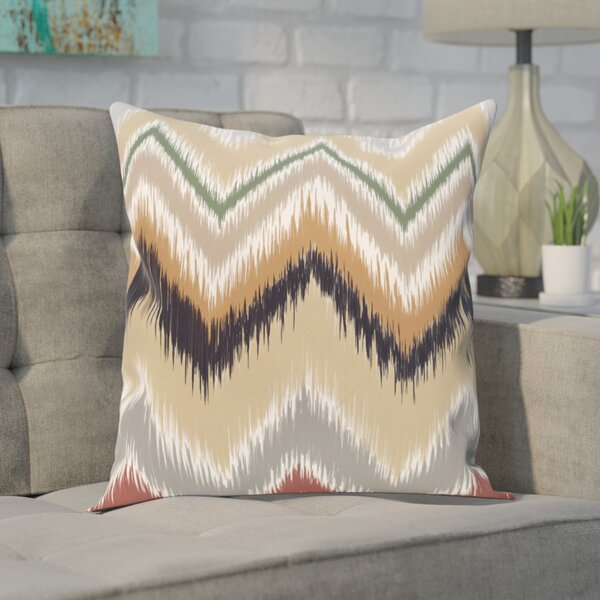 Guillame Chevron Stripes Print Outdoor Pillow by Ivy Bronx