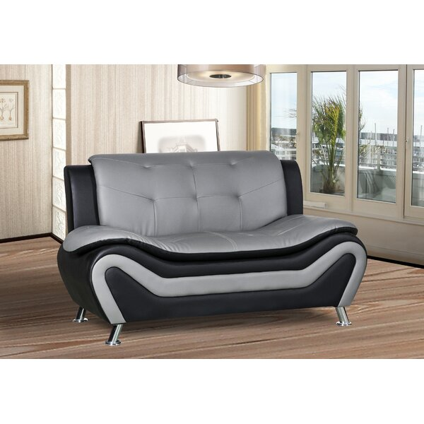 Modern Brand Varya Loveseat by Orren Ellis by Orren Ellis