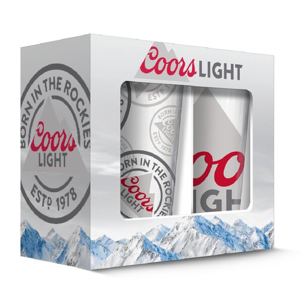 Coors Mountain 16 oz. Print Glasses (Set of 2) by PB