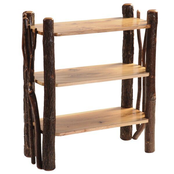 Hickory Open Etagere Bookcase by Fireside Lodge
