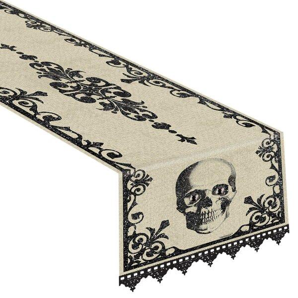 Halloween Boneyard Fabric Table Runner by Amscan