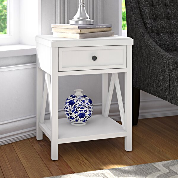 Nealon Solid Wood End Table With Storage  By Red Barrel Studio
