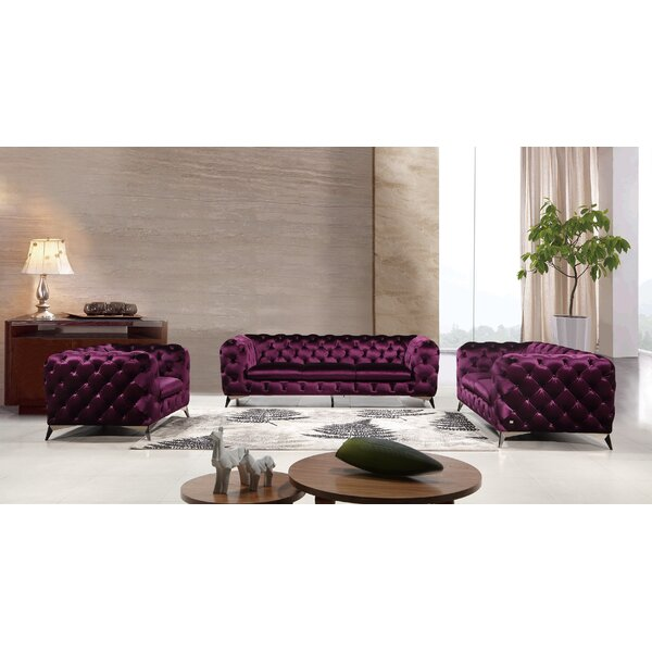 Forslund 3 Piece Living Room Set by Mercer41