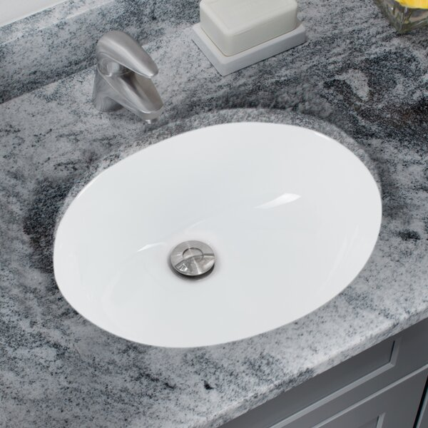 Soleil Glazed Vitreous China Oval Undermount Bathroom Sink With Overflow |  Wayfair