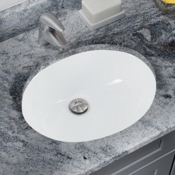 Soleil Glazed Vitreous China Oval Undermount Bathroom Sink With Overflow |  Wayfair