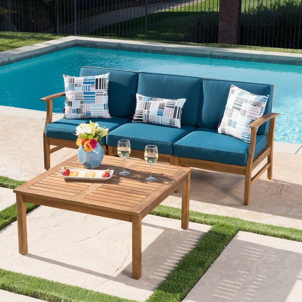 Antonia Outdoor 2 Piece Sofa Seating Group with Cushions