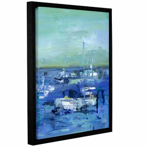 'Abstract Harbor 14 Just Happy' Framed Painting Print on Wrapped Canvas by Breakwater Bay