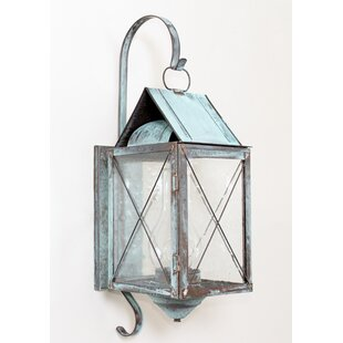 Compare 300 Series 1-Light Outdoor Wall Lantern By Brass Traditions