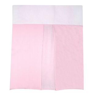 Dust Ruffle Pink with Pleat Crib Bumper ByNautica