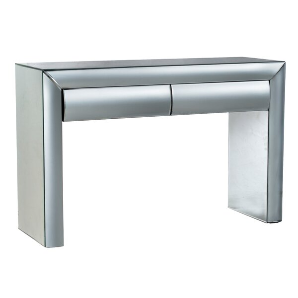 Scharf Curved Console Table - Clear By Everly Quinn