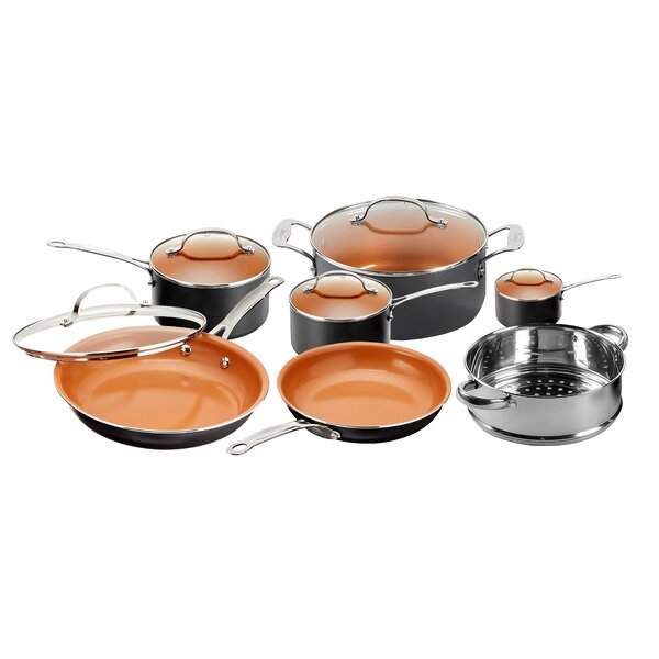 12 Piece Non-Stick Cookware Set by Gotham Steel