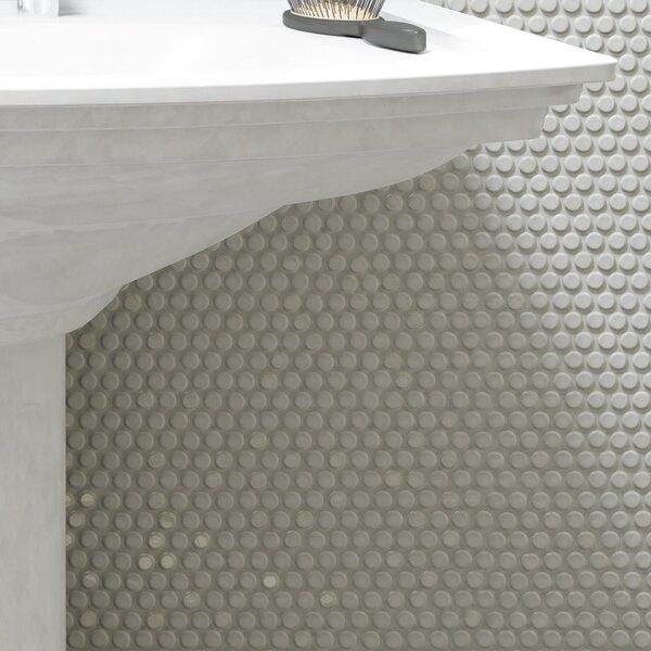 Tucana 0.59 x 0.59 Porcelain Mosaic Tile in White by EliteTile