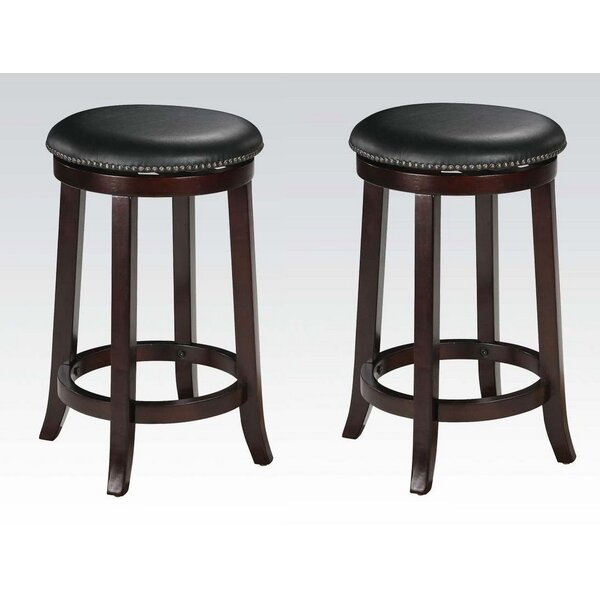 Emmitt 24 Swivel Bar Stool (Set of 2) by Darby Home Co