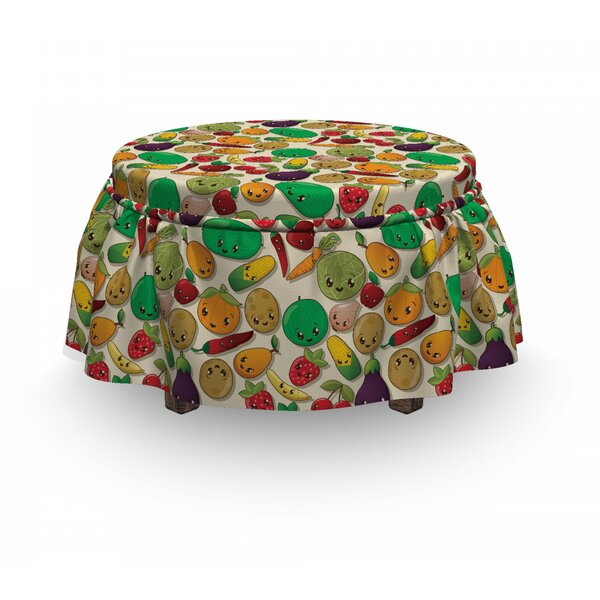 Vegetable Fruit Kawaii Ottoman Slipcover (Set Of 2) By East Urban Home