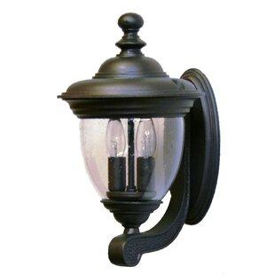 Best Deals Phillipstown 2-Light Outdoor Sconce By Alcott Hill