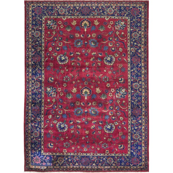 One-of-a-Kind Hand-Knotted Wool Red/Blue Area Rug by Bokara Rug Co., Inc.