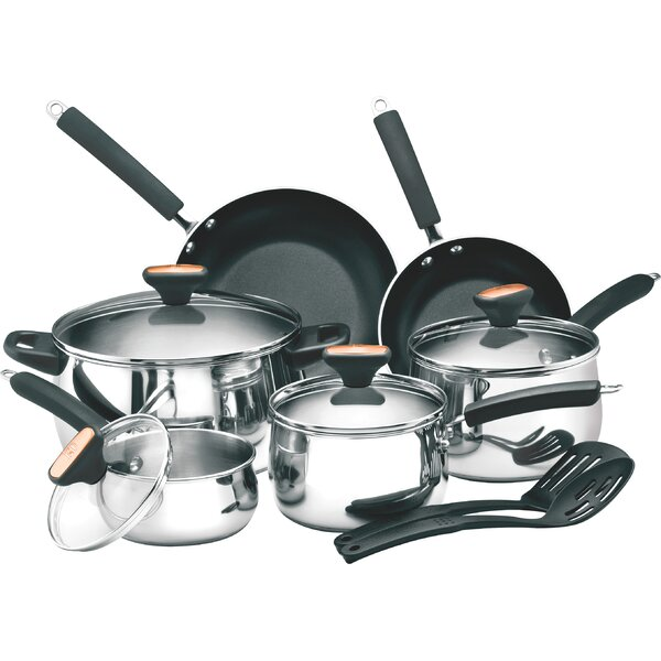 12-Piece Non-Stick Stainless Steel Cookware Set by Paula Deen