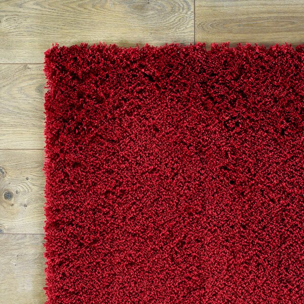 Shaggy Hand-Woven Red Area Rug by Birch Lane Kids™