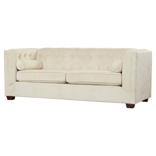 Dalila Velvet 87'' Tuxedo Arm Sofa by Willa Arlo Interiors Willa Arlo Interiors