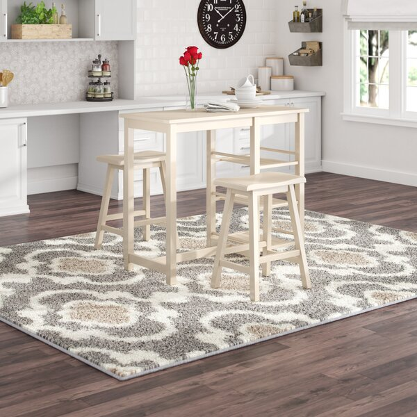 Porras 3 Piece Counter Height Breakfast Nook Dining Set by Winston Porter