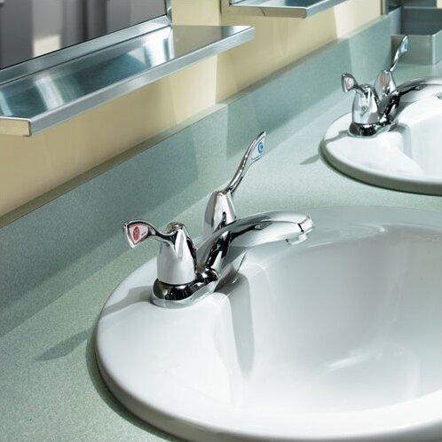 M-Bition Two Wrist Blade Handle Centerset Bathroom Faucet by Moen