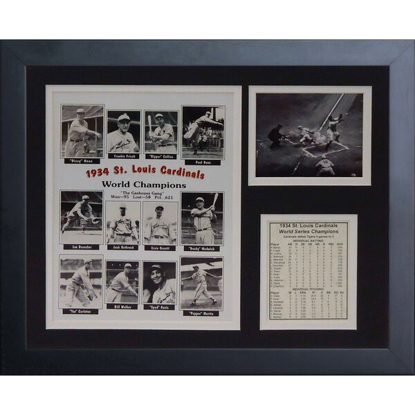 1934 St. Louis Cardinals Framed Photographic Print by Legends Never Die