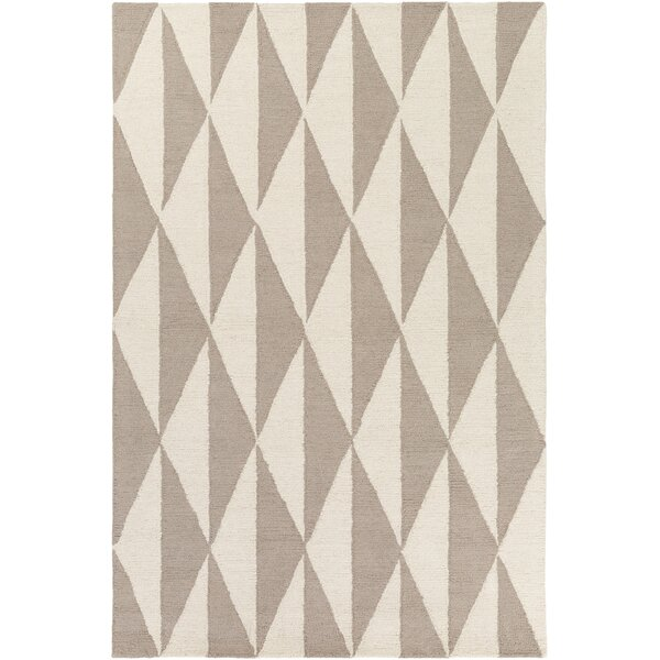 Yowell Hand-Crafted Gray/Light Gray Area Rug by George Oliver
