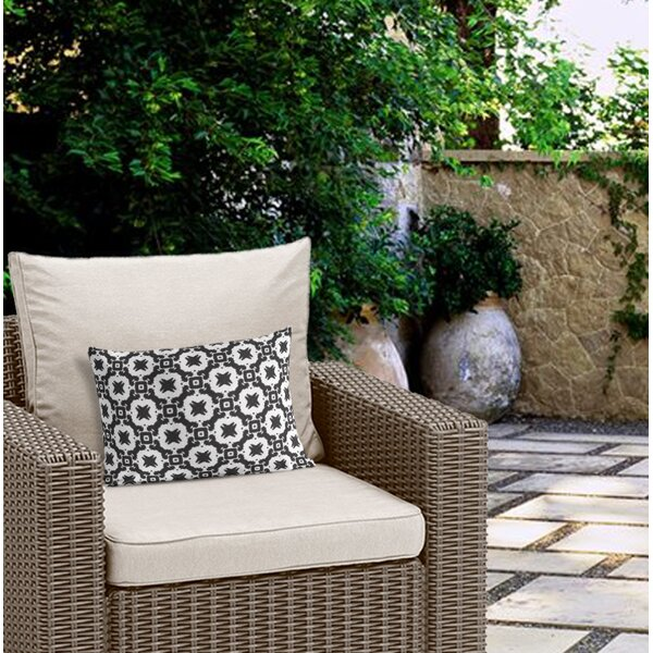 McGrath Cotton Indoor/Outdoor Geometric Lumbar Pillow