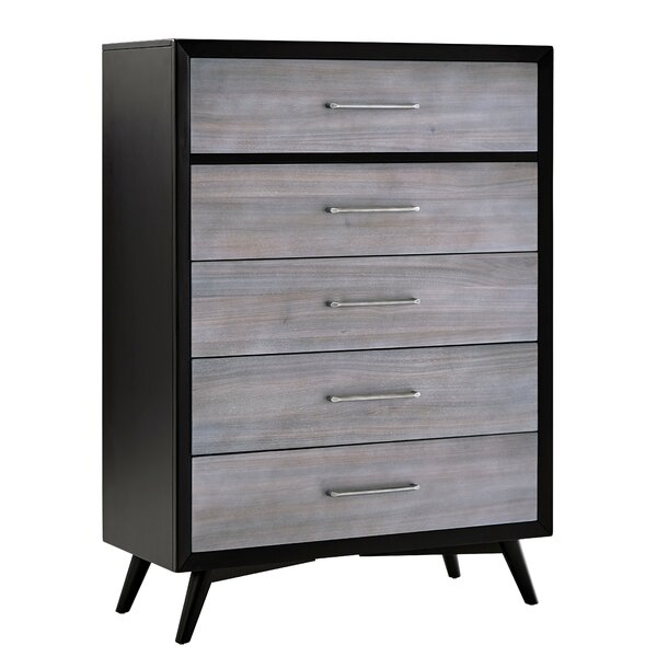 Alleya 5 Drawers Standard Chest by Modern Rustic Interiors