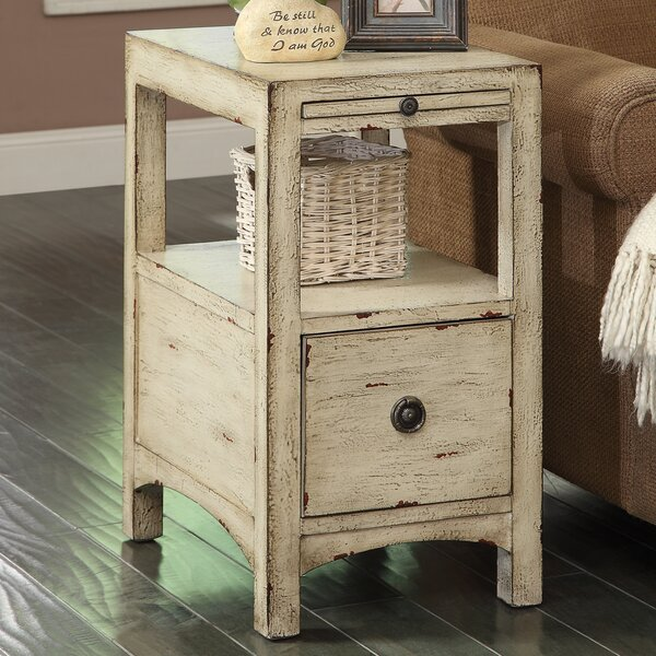 Hayman End Table With Storage by August Grove