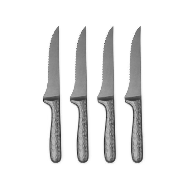 Nero 4 Piece Steak Knife Set by Cambridge Silversmiths