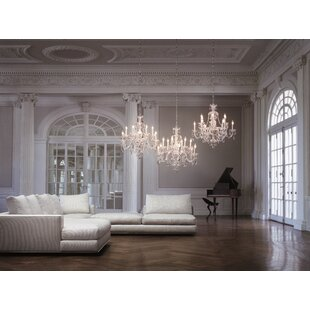 Reviews Sterling 12-Light Candle Style Chandelier By Schonbek