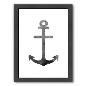 Anchor Framed Graphic Art by Breakwater Bay