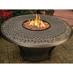 Best Charleston Aluminum Gas Fire Pit Table By TK Classics