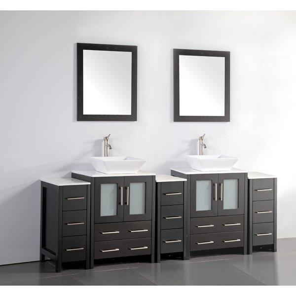 Melbourne 84 Double Bathroom Vanity Set with Mirror by Brayden Studio