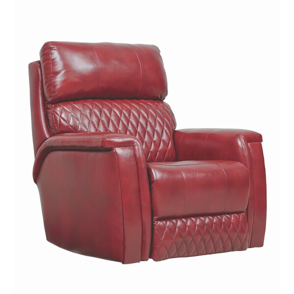 High Rise Leather Manual Swivel Recliner by Southern Motion Southern Motion