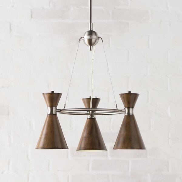 Ibsen 3-Light Wagon Wheel Chandelier by Langley Street