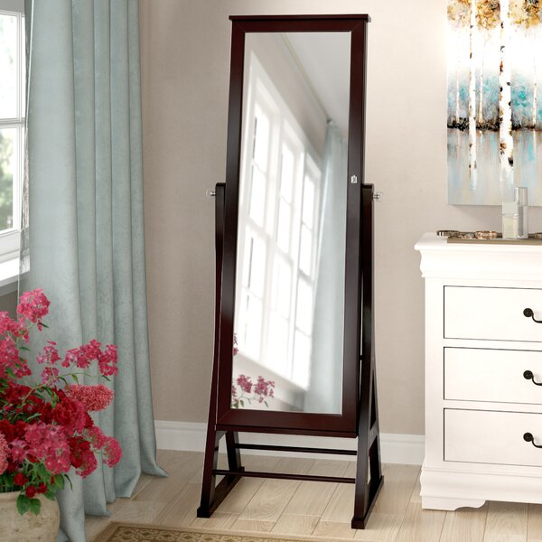 Fleming Eiffel Free Standing Jewelry Armoire with Mirror by Alcott Hill