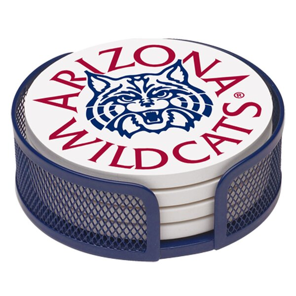5 Piece University of Arizona Collegiate Coaster Gift Set by Thirstystone