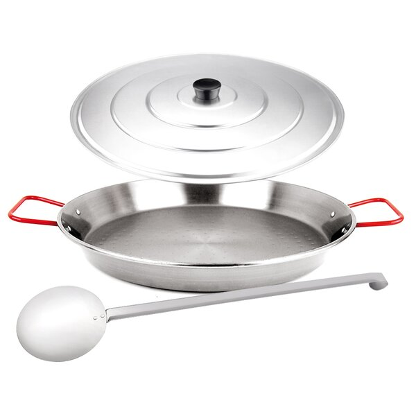 3-Piece Paella Pan Set with Lid by Magefesa